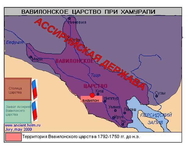 Захват Ассирией Вавилонскго царства Столица Царства ВАВИЛОН