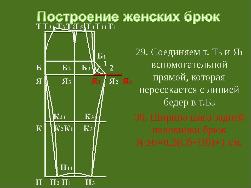 29. Соединяем т. Т5 и Я1 вспомогательной прямой, которая пересекается с лини...