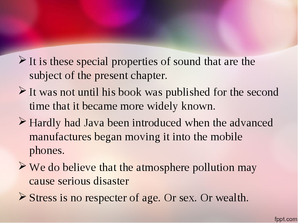It is these special properties of sound that are the subject of the present c...