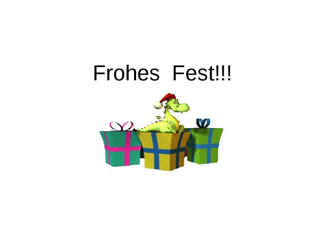 Frohes Fest!!!