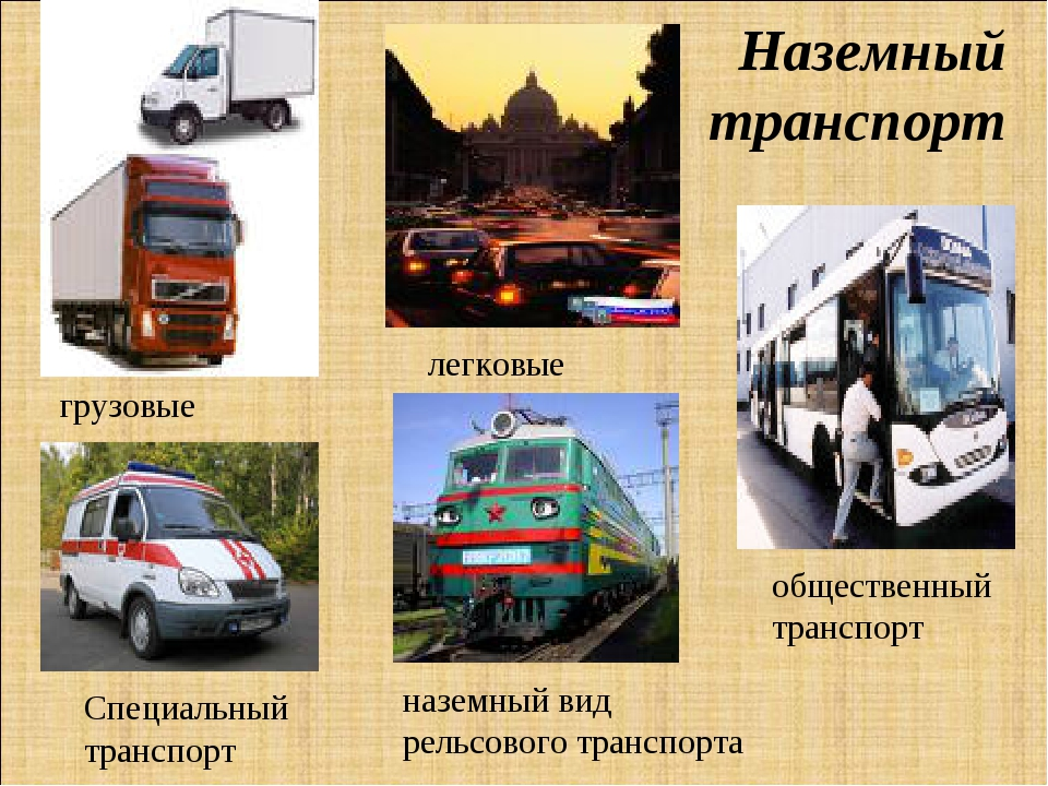 Наземный транспорт грузовые легковые общественный транспорт Специальный транс...