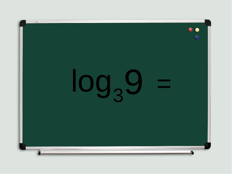log 3 9 =