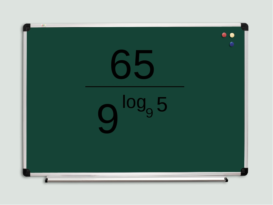 65 _____________ 9 log 9 5