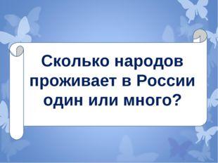 Сколько народов проживает в России один или много?