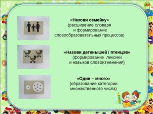 «Один – много» (образование категории множественного числа) «Назови детенышей