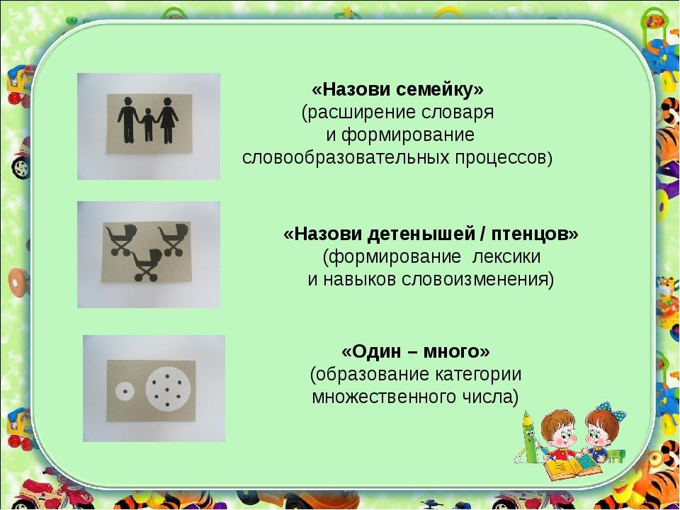 «Один – много» (образование категории множественного числа) «Назови детенышей...