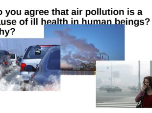 Do you agree that air pollution is a cause of ill health in human beings? Why?
