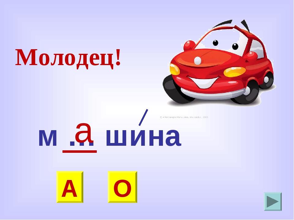 м … шина О А а Молодец!