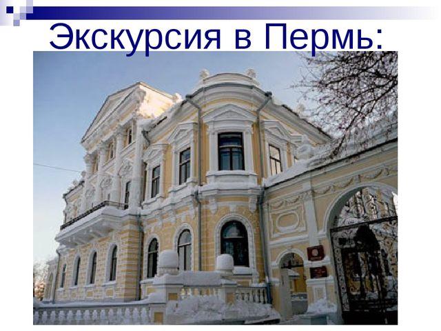 Экскурсия в Пермь: