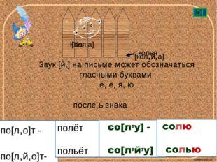 по[л,о]т - по[л,й,о]т- Звук [й,] на письме может обозначаться гласными буквам