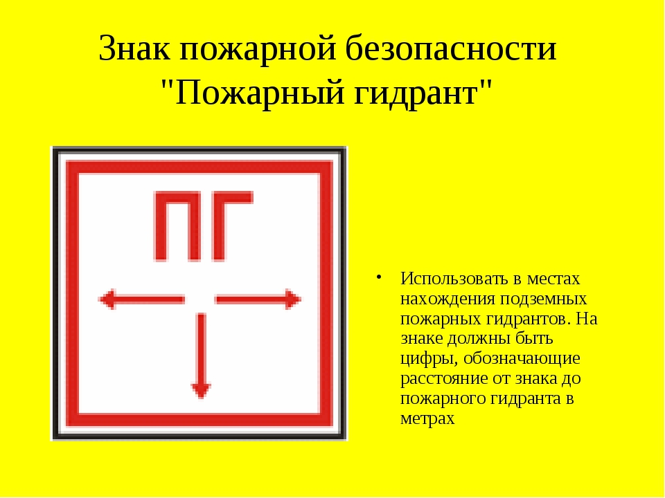 """Знак пожарной безопасности """"Пожарный гидрант"""" Использовать в местах нахождени..."""