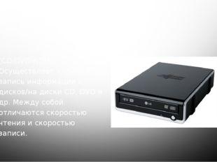 9-10. CD/DVD приводы (CD/DVD-ROM). Осуществляет чтение и запись информации с