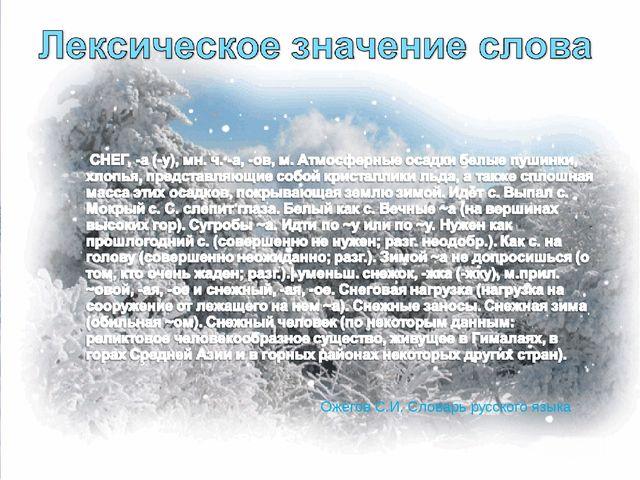 Ожегов С.И. Словарь русского языка