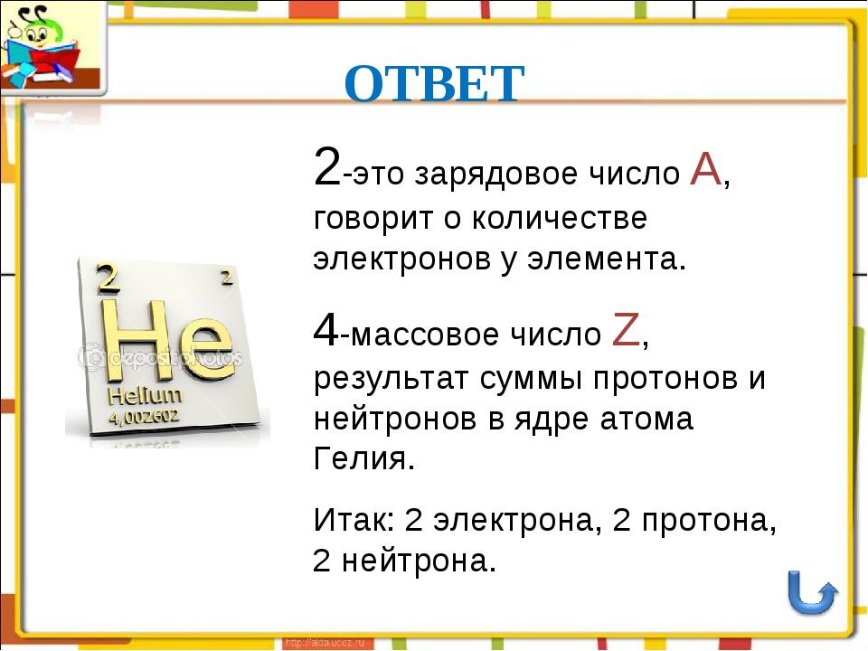 ОТВЕТ  2-это зарядовое число А, говорит о количестве электронов у элемента....