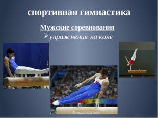 спортивная гимнастика Мужские соревнования упражнения на коне