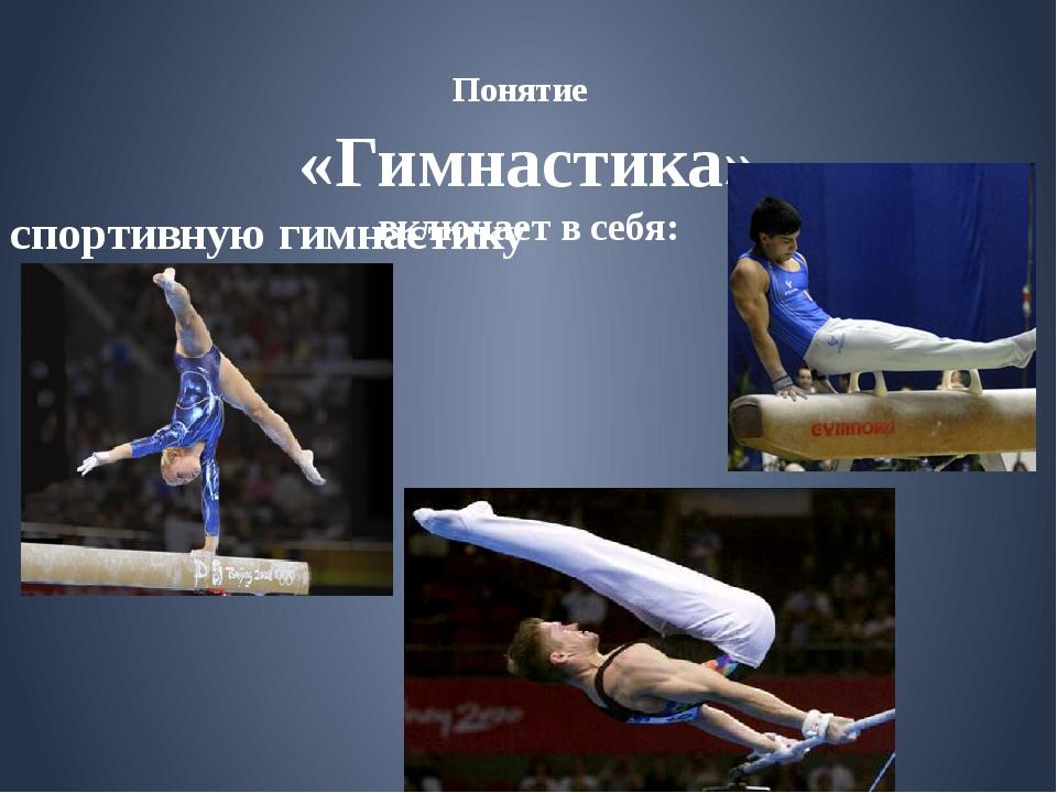 Понятие «Гимнастика» включает в себя: спортивную гимнастику