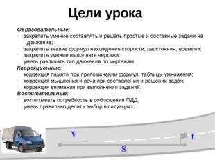 V = S : t t = S : V S = V ∙ t Составьте формулы по карточкам V= S S t V V S :