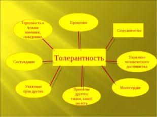 Сотрудничество Толерантность Прощение Терпимость к чужим мнениям, поведению С