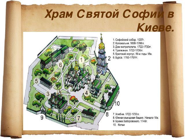 Храм Святой Софии в Киеве.