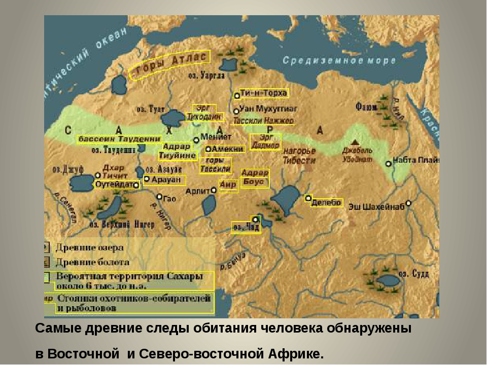 Самые древние следы обитания человека обнаружены в Восточной и Северо-восточн...