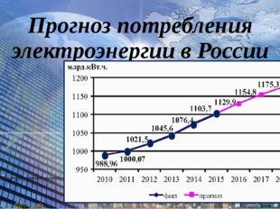 Прогноз потребления электроэнергии в России