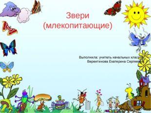 Звери (млекопитающие) Выполнила: учитель начальных классов Вереитинова Екатер