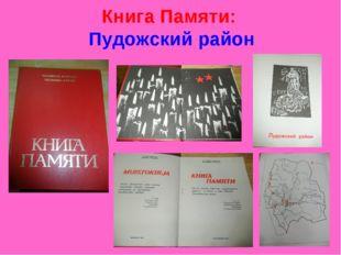Книга Памяти: Пудожский район