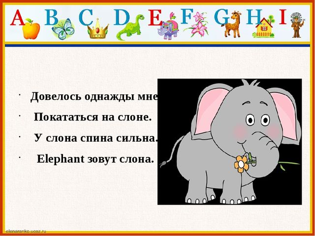 Довелось однажды мне Покататься на слоне. У слона спина сильна. Elephant зов...