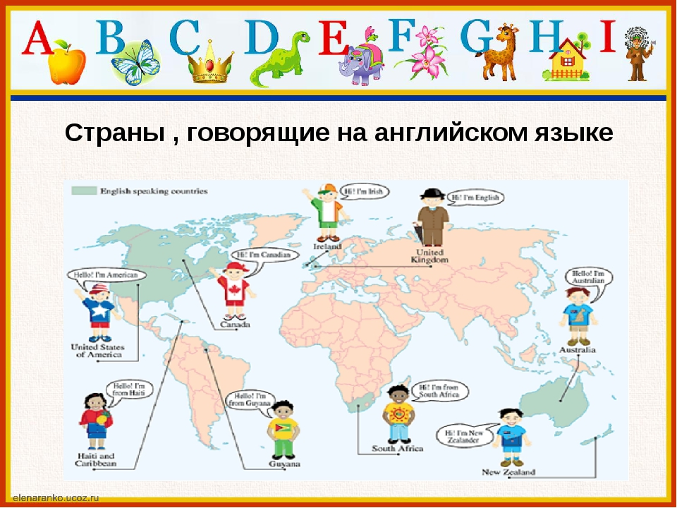 Страны , говорящие на английском языке