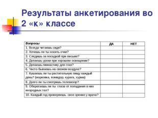 Результаты анкетирования во 2 «к» классе Вопросы ДАНЕТ 1. Всегда читаешь си