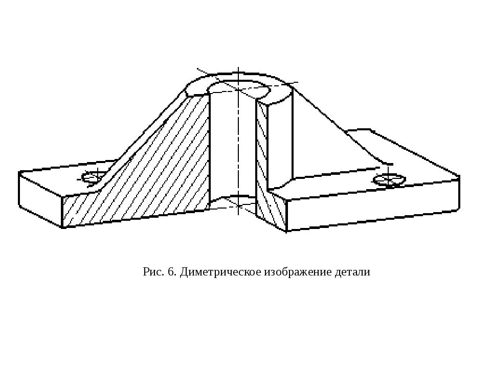 Рис. 6. Диметрическое изображение детали