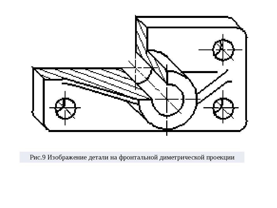 Рис.9Изображение детали на фронтальнойдиметрическойпроекции