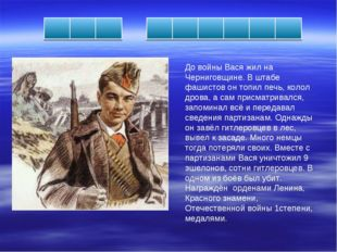 До войны Вася жил на Черниговщине. В штабе фашистов он топил печь, колол дров