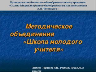 Муниципальное бюджетное общеобразовательное учреждение «Сылгы-Ытарская средня