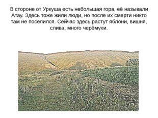 В стороне от Уркуша есть небольшая гора, её называли Атау. Здесь тоже жили лю