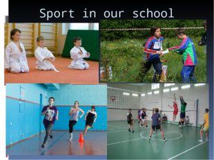 Sport in our school