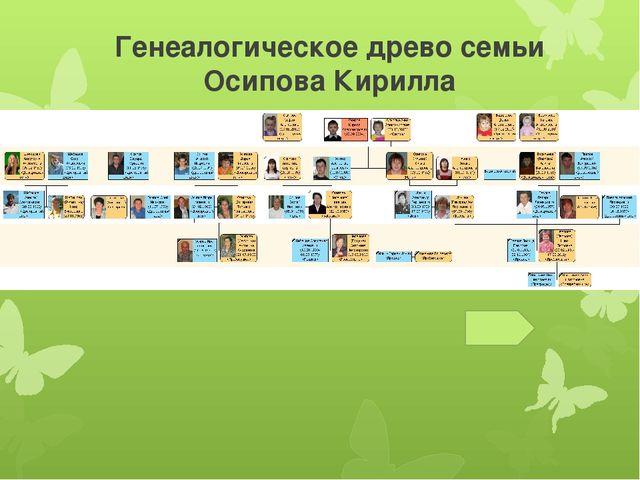 Генеалогическое древо семьи Осипова Кирилла