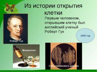 Из истории открытия клетки Первым человеком, открывшим клетку был английский
