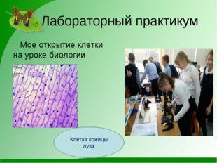 Лабораторный практикум Мое открытие клетки на уроке биологии Клетки кожицы л