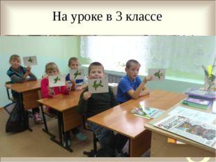 На уроке в 3 классе