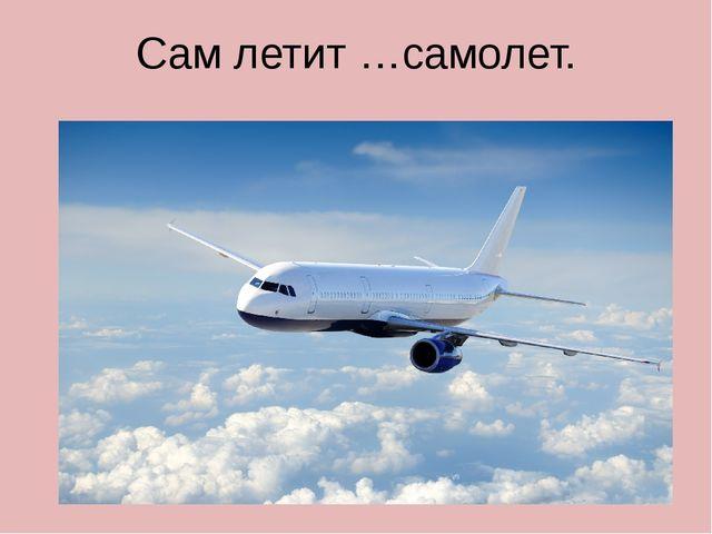 Сам летит …самолет.