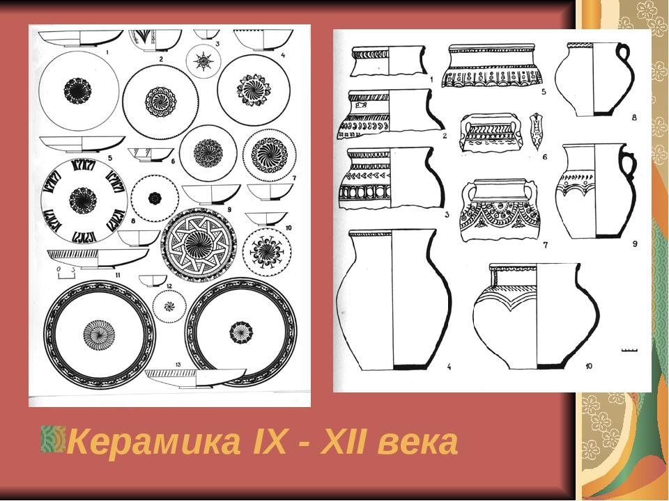 Керамика IX - XII века