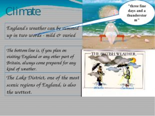 "Climate ""three fine days and a thunderstorm"" England's weather can be summed"