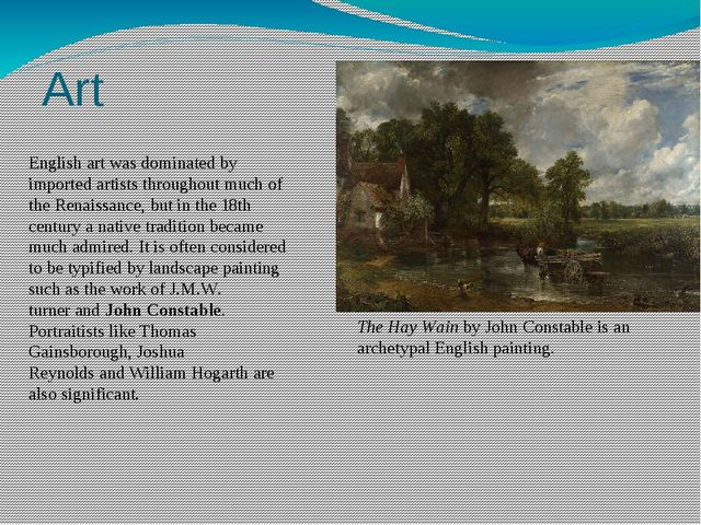 Art English art was dominated by imported artists throughout much of the Rena...