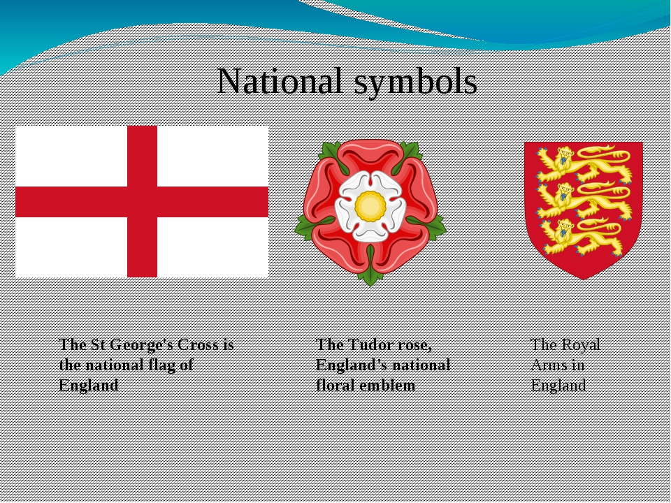 The St George's Cross is the national flag of England National symbols The Tu...