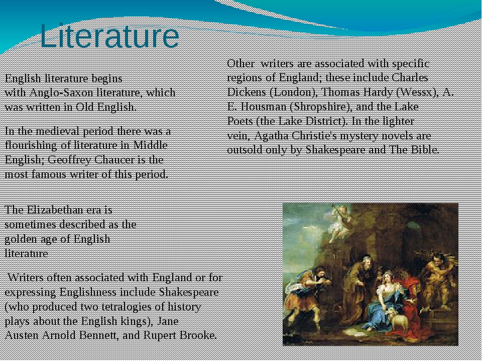 Literature English literature begins with Anglo-Saxon literature, which was w...