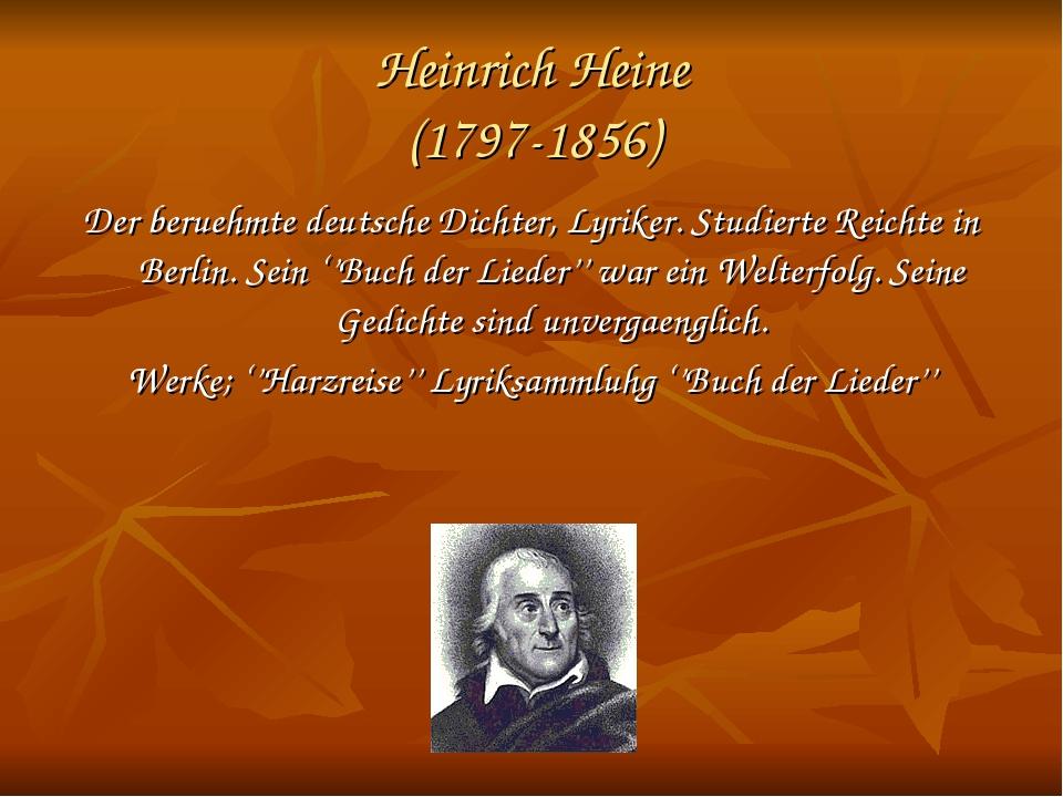Heinrich Heine (1797-1856) Der bеruehmte deutsche Dichter, Lyriker. Studierte...