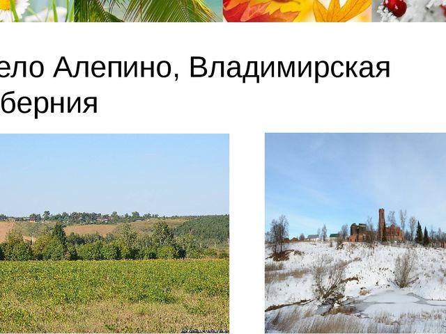 Село Алепино, Владимирская губерния