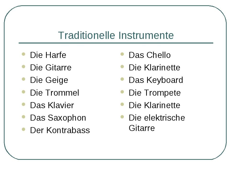 Traditionelle Instrumente Die Harfe Die Gitarre Die Geige Die Trommel Das Kla...