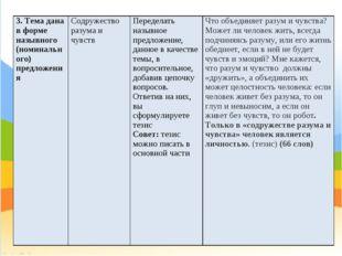 3. Тема дана в форме назывного (номинального) предложенияСодружество разума